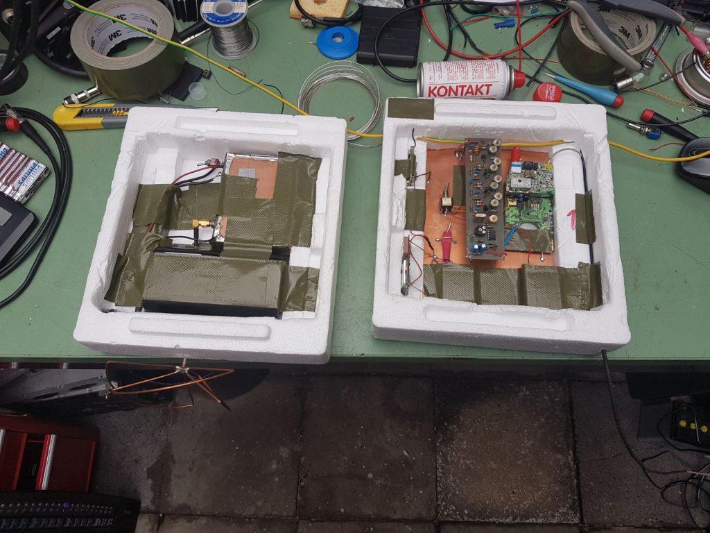 De sonde met transponder en ATV-zender.
